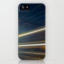 Night Train Abstract Night Photograph iPhone Case
