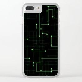 Electric Maze Clear iPhone Case