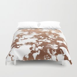 Rose Gold shiny metal sparkle modern pattern abstract rosegold trendy pattern cell phone accessories Duvet Cover