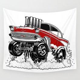 57 Gasser REV-3 RED Wall Tapestry