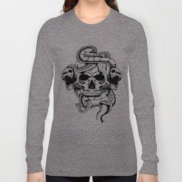 Skulls and snake design Long Sleeve T-shirt