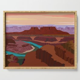 Magnificent Canyonlands National Park, Utah Serving Tray
