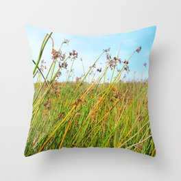flowers in daylight Throw Pillow