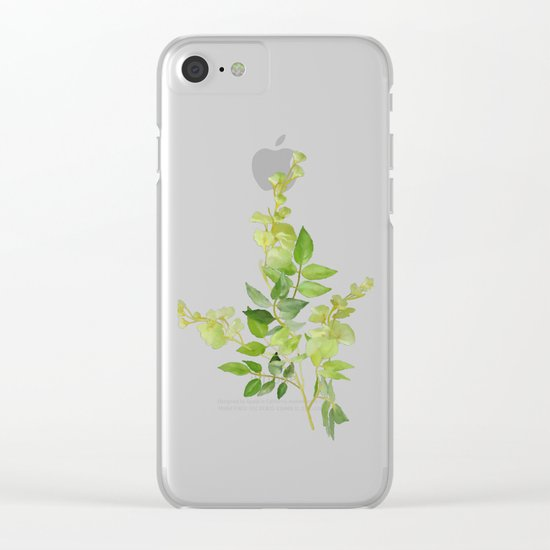 Yellow Tiny Flowers Clear iPhone Case