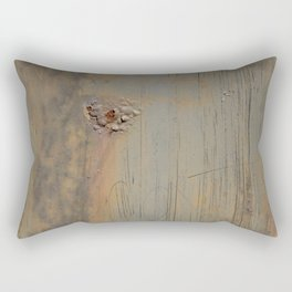 Disgusting Grungy Rusty Wounded Painted Metal Rectangular Pillow