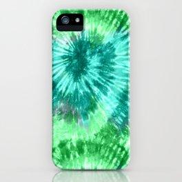 Summer Vibes Tie Dye Spirals in Blue Green iPhone Case