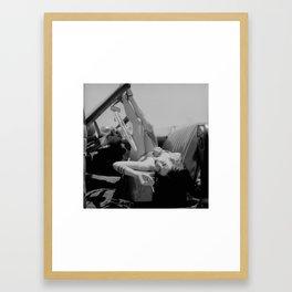 Chola Bad Ass Bitch Smokes Framed Art Print