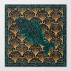 Swimming Upstream 2 Canvas Print