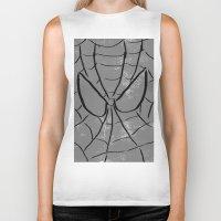 spider man Biker Tanks featuring Spider-Man by Isaak_Rodriguez