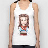 hermione Tank Tops featuring Beauty Granger. Belle / Hermione crossover by Missy Corey