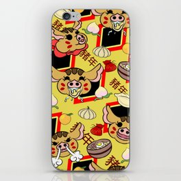 Year of the pig pattern iPhone Skin