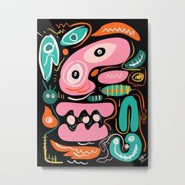 Aztec Spirits of the Night Street Art Graffiti  Metal Print