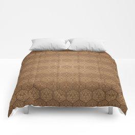 D20 Henna Icosahedron Comforters