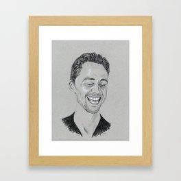 Tom Hiddleston: Laughter Framed Art Print