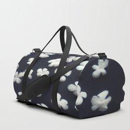 White petals 5 Duffle Bag