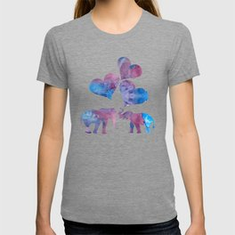 Elephants art T-shirt