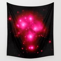 constellation Wall Tapestries featuring constellation : 7 Sisters of Pleaides by 2sweet4words Designs
