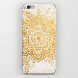 Queen Starring of Mandala-Gold Sunflower I iPhone Skin