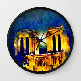 Notre Dame de Paris Full Moon Wall Clock