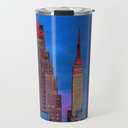 The New Yorker, 481 8th Ave, New York, NY, A Portrait by Jeanpaul Ferro Travel Mug