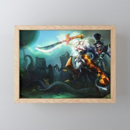 Mad Hatter Shaco League of Legends Framed Mini Art Print