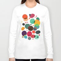 lotus Long Sleeve T-shirts featuring Lotus in koi pond by Picomodi