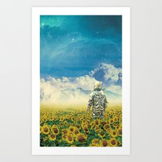In the field Art Print