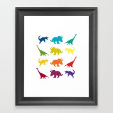 Dino Parade Framed Art Print