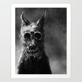 The Wolf at the End of the Labyrinth Art Print