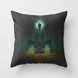 Music is the way Throw Pillow