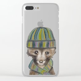 Little Fox 2 Clear iPhone Case
