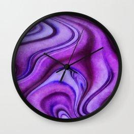 Violet wavy abstract Wall Clock