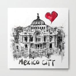 I love Mexico City Metal Print