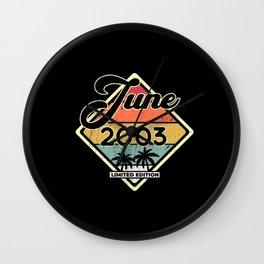 Vintage 18th Birthday June 2003 Sports Gift Wall Clock