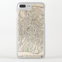 19th Century Topographical Vintage Antique Map Moscow Russia Steampunk Clear iPhone Case