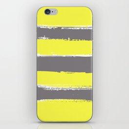Charcoal Stripes on Lemon iPhone Skin