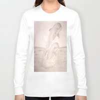 dolphins Long Sleeve T-shirts featuring Dolphins by Shahadjef