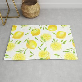Lemons and leaves  Rug