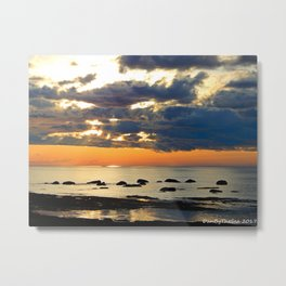 Textures Clouds over the Sea Metal Print