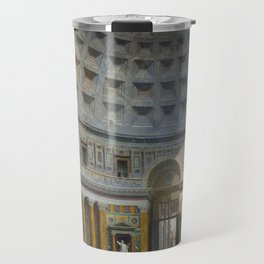 Interior of the Pantheon, Rome by Giovanni Paolo Panini Travel Mug