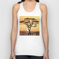 africa Tank Tops featuring Africa by ArT RefugiuM