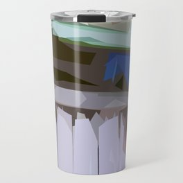 St. Maarten Color Block Fence  Travel Mug