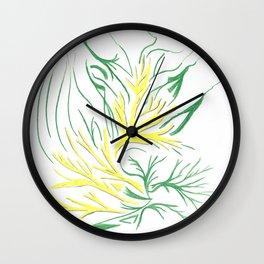 Irish Golden Luck Wall Clock