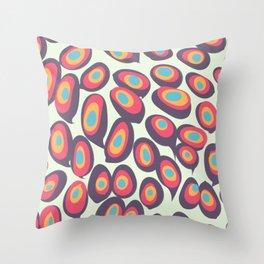 Gradient Dots Throw Pillow