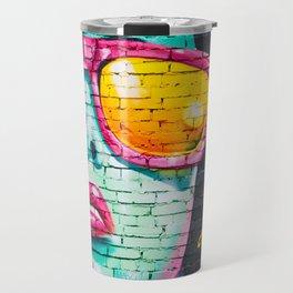 Graffiti Of Women On Wall Travel Mug