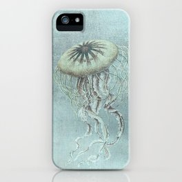Jellyfish Underwater Aqua Turquoise Art iPhone Case