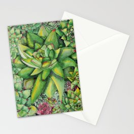 Watercolour Succulents Stationery Cards
