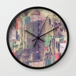 Mountain//Glitch Wall Clock
