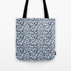 navy coral pattern Tote Bag