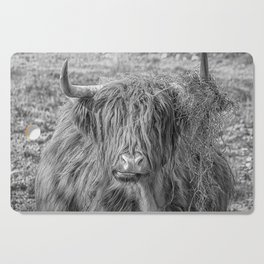 Black and white big Scottish Highland cow Cutting Board